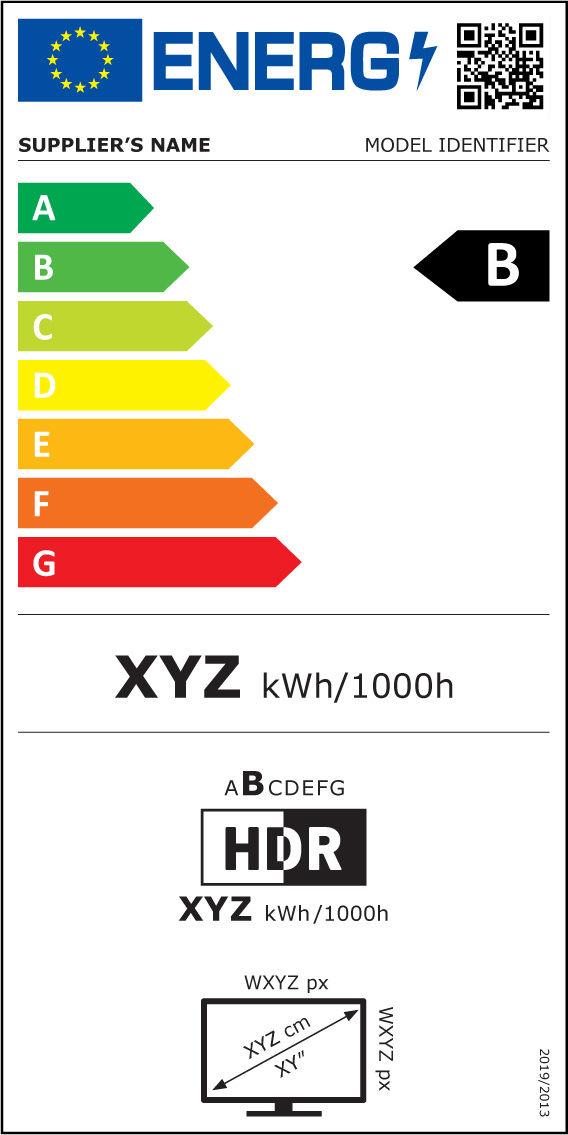 Energy Label TVs & electronic displays
