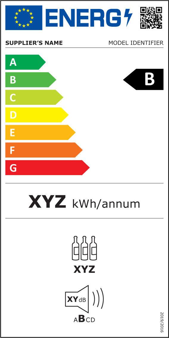 Etiqueta Energética aparelhos de armazenagem de vinhos